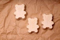 Handmade soap made with love royalty free stock photo