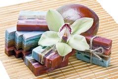 Handmade soap mango Royalty Free Stock Photos