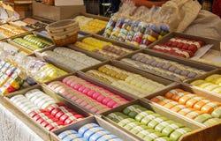 Handmade soap market Stock Photo