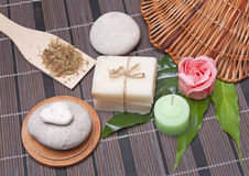 Handmade Soap with natural ingredients Stock Photography