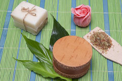 Handmade Soap with natural ingredients Royalty Free Stock Photography