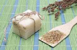 Handmade Soap with natural ingredients Stock Photo
