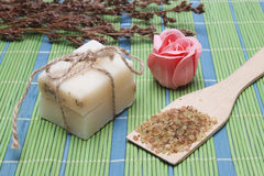 Handmade Soap with natural ingredients Stock Photos