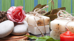 Handmade Soap with natural ingredients Stock Images