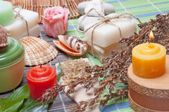 Handmade Soap with natural ingredients Stock Image