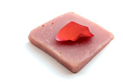 Handmade soap and rose petal Royalty Free Stock Images