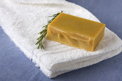 Handmade Soap with Rosemary Royalty Free Stock Photos