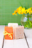 Handmade soap for spring cleaning. Royalty Free Stock Image