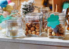 Handmade soap at Vilnius Christmas Market in Lithuania stock image