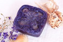 Handmade soap. On a white background Stock Photography