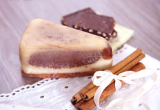 Handmade soaps with chocolate and cinnamon Stock Image