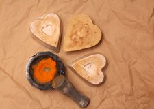 Handmade soap made with love stock image