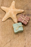 Handmade soaps and sea star Stock Photography