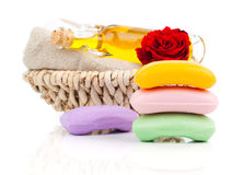 Handmade soaps Stock Photos