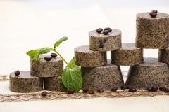 Handmade soaps stack Stock Photo