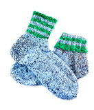 Handmade socks. Isolated on white background Stock Images
