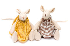 Handmade soft toys - mouse Royalty Free Stock Photos