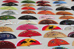 Handmade Spanish fans for dance Royalty Free Stock Images