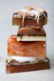 Handmade stacked soap Stock Image
