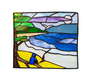 Handmade stained glass composition Stock Images
