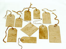 Handmade stained tags Stock Photography
