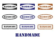 Handmade stamps - cdr format Stock Photography