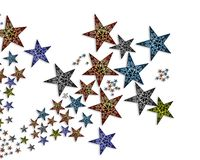 Handmade  stars  illustration #2 Royalty Free Stock Image