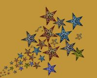 Handmade  stars  illustration Stock Photos