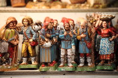Handmade statues for crib. Variety of handmade statues for crib Royalty Free Stock Photos