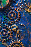 Handmade steampunk background mechanical cogs wheels.  Royalty Free Stock Photography
