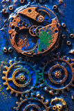 Handmade steampunk background mechanical cogs wheels Stock Photo