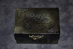 Handmade steampunk szkatuła z przekładniami Zdjęcie Stock