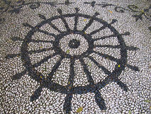 Handmade stone pavement Stock Photography