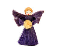 Handmade straw Christmas angel ornament Stock Photo