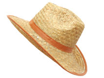 Handmade straw hat for men Stock Photos
