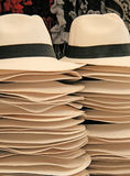 Handmade straw hats , Peru Royalty Free Stock Photography