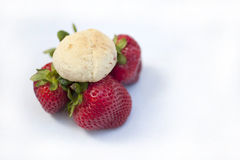 Handmade Strawberry Cookie Royalty Free Stock Images
