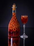 Handmade strawberry liqueur, close up Stock Images