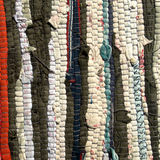 Handmade  Striped colorful rag rug texture background. Stock Images