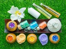 Handmade Sugar Peach Scrub With Argan Oil. Handmade Soap. Himala Stock Photography