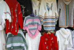 Handmade sweaters Stock Photos