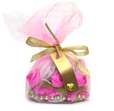 Handmade sweet gift with place for text Royalty Free Stock Photography