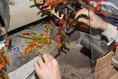 Handmade szklanego kreatywnie handwork figurek szklani narzędzia Zdjęcie Stock