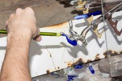 Handmade szklanego kreatywnie handwork szklane figurki zaludniają aktywność Obrazy Stock