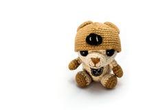 Handmade szydełkowa brown niedźwiedzia lala zdjęcie royalty free
