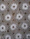 Handmade szydełkowy tablecloth wzór Zdjęcia Royalty Free