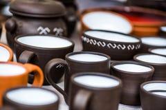 Handmade tableware, блюда Стоковые Фотографии RF