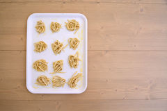 Handmade tagliatelle Royalty Free Stock Images