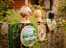 Handmade talerze i dzbanki Obraz Stock
