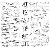 Handmade tattoo set. Handmade tattoo lettering and decorative elements Stock Images